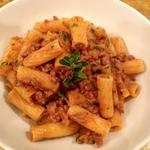 Rigatoni with sausage and fennel ragu